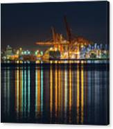 Port Of Vancouver In British Columbia Canada Canvas Print