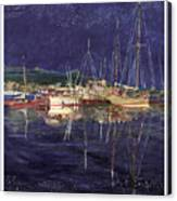 Marina Evening Reflections Canvas Print