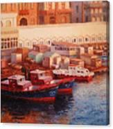 Port Said At Dawn Canvas Print