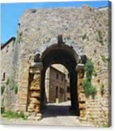 Porta All' Arco Volterra Canvas Print