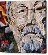 Portait Of David Suzuki Canvas Print
