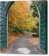 Portal To The Colorful Autumn Season Canvas Print