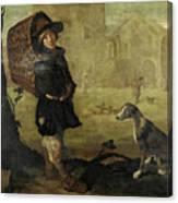 Portarolo Col Cane Canvas Print