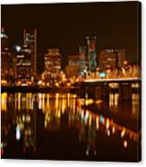 Portland At Night Canvas Print