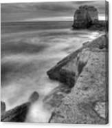 Portland Bill Seascape In Black And White Canvas Print