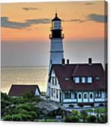 Portland Head Lighthouse At Daybreak 2 Canvas Print