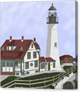 Portland Head Maine On Cape Elizabeth Canvas Print