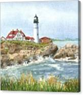 Portland Headlight Canvas Print