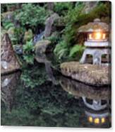 Portland Japanese Garden At Twilight Canvas Print