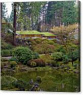 Portland Japanese Garden By The Lake Canvas Print