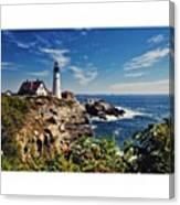 #portland #lighthouse #maine Canvas Print