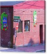 Portland Maine - Wharf Street Canvas Print