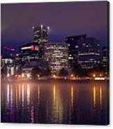 Portland Night Skyline Canvas Print