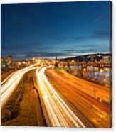 Portland Oregon Interstate Freeway Light Trails Canvas Print