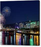 Portland Rose Festival 2017 Fireworks Canvas Print