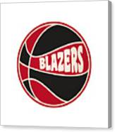 Portland Trail Blazers Retro Shirt Canvas Print