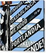 Portlandia Sign Canvas Print