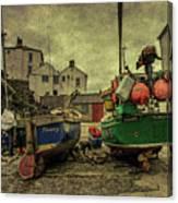 Portloe Boats  Canvas Print
