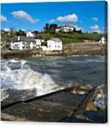 Portmellon In Winter Canvas Print