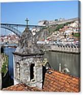 Porto And Gaia Cityscape In Portugal Canvas Print