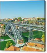 Porto Bridge Skyline Canvas Print