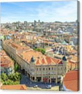 Porto Historic Center Aerial Canvas Print