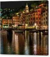 Portofino Bay By Night II - Notte Sulla Baia Di Portofino II Canvas Print