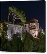 Portofino Bay By Night V - Notte Al Castello Canvas Print