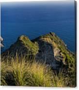Portofino Green And Blu Liguria Rocks And Sea Canvas Print