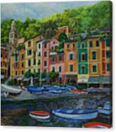 Portofino Harbor Canvas Print