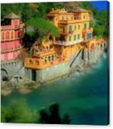 Portofino Park Bay Canvas Print