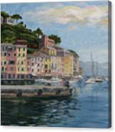 Portofino Port Canvas Print