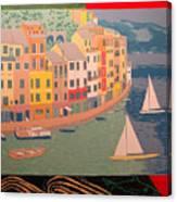 Portofino with birds Canvas Print