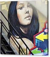 Portrait By The Back Stair Canvas Print