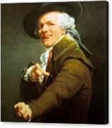 Portrait De L Artiste Sous Les Traits D Un Moqueur 1793 Canvas Print