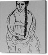 Portrait Girl Canvas Print