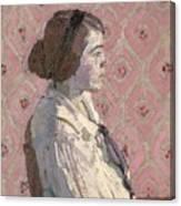 Portrait In Profile Canvas Print