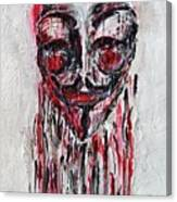 Portrait Melting Of Anonymous Mask Chan Wikileak Occupy Guy Fawkes Sopa Mpaa Pirate Lulz Reddit Canvas Print