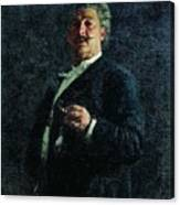 Portrait Mo Mikeshin 1888 Ilya Repin Canvas Print