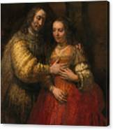 Portrait Of A Couple As Figures From The Old Testament Canvas Print