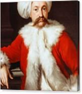 Portrait Of A Gentleman In Oriental Costume Canvas Print