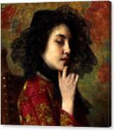 Portrait Of A Georgian Princess Canvas Print