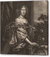 Portrait Of A Lady Beside A Rose Bush Canvas Print