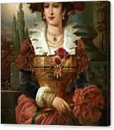 Portrait Of A Lady Canvas Print
