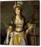 Portrait Of A Lady In Turkish Fancy Dress Canvas Print