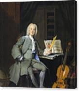 Portrait Of A Member Of The Van Der Mersch Family, 1736 Canvas Print