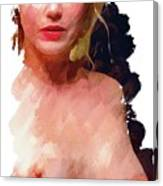 Portrait Of A Naked Lady Canvas Print
