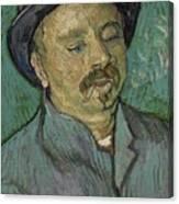 Portrait Of A One Eyed Man Saint Remy De Provence  Autumn 1889 Vincent Van Gogh 1853  1890 Canvas Print