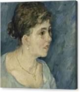 Portrait Of A Prostitute Antwerp December 1885 Vincent Van Gogh 1853  1890 Canvas Print
