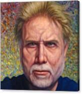 Portrait Of A Serious Artist Canvas Print